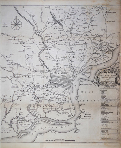 Nicholas Scull (1686-1762) & George Heap (1714-1752), A Map of Philadelphia and Parts Adjacent...