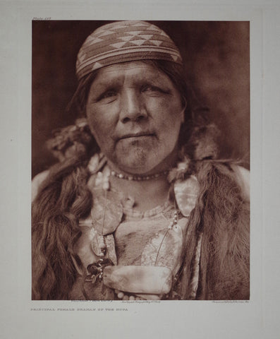 Edward S. Curtis (1868-1953), Shaman Female Hupa Pl 467