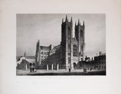 Thomas H. Shepherd (1792-1864), after, Westminster Abbey. West Front