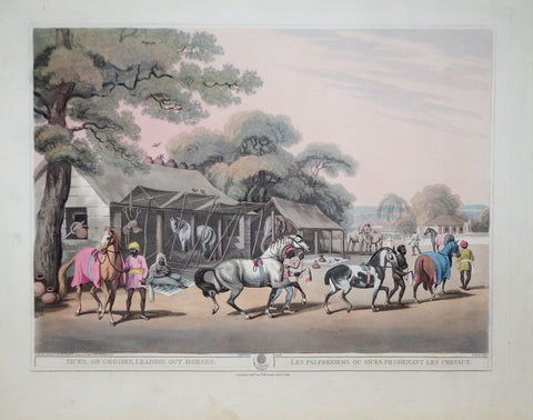 Thomas Williamson (1758-1817) and Samuel Howitt (1765-1822), Sices, or Grooms, Leading out Horses