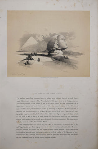 David Roberts (1796-1864),  Side View of the Great Sphinx