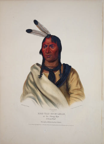 Thomas McKenney (1785-1859) & James Hall (1793-1868), Sioux Chief, Esh-Tah-Hum-Leah