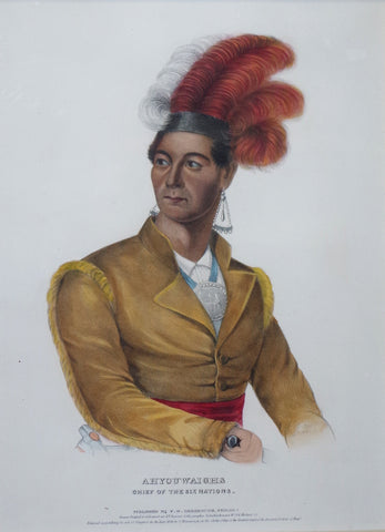 Thomas McKenney (1785-1859) & James Hall (1793-1868), Six Nations Chief, Ahyouwaihgs
