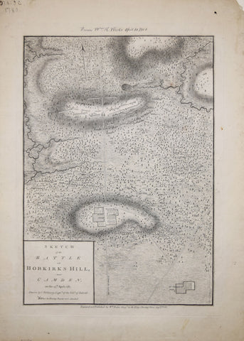 William Faden (1749 – 1836), after Charles Vallency, Captn., Sketch of the Battle of Hobkirk's Hill near Camden on the 25th April, 1781