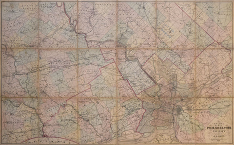 J.L. Smith, Smith's New World Map of Philadelphia & vicinity