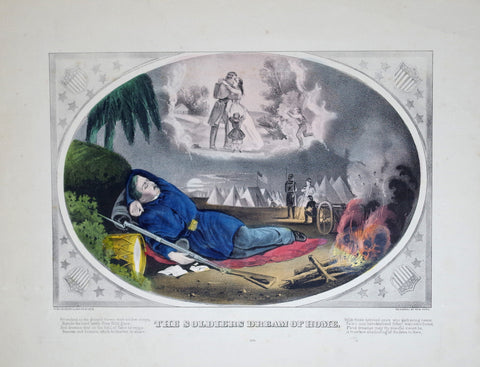 Nathaniel Currier (1813-1888) & James Ives (1824-1895), The Soldier's Dream of Home