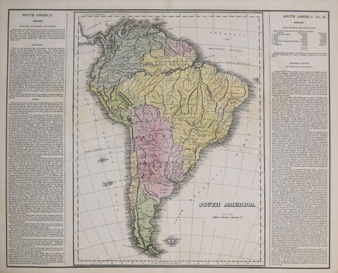 Henry C. Carey (1793-1879) & Isaac Lea (1792-1886),  South America. No 46.
