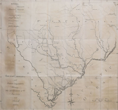 David Ramsay (1749-1815),  South Carolina & parts adjacent, showing the movements of the American & British armies