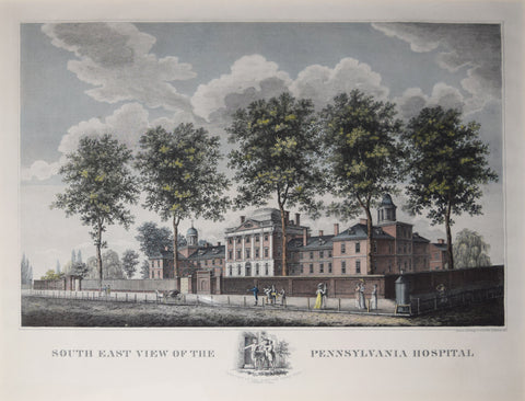 John G. Exilious (Drawn and engraved), South East View of the Pennsylvania Hospital