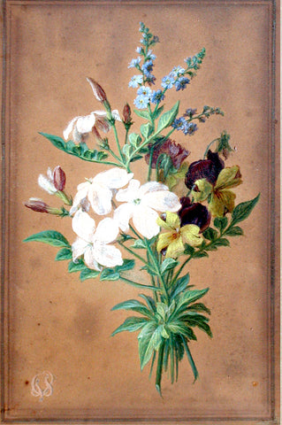 Cornelis van Spaendonck (Dutch, 1756- Paris 1836), A Bouquet of Flowers with Jasmine, Forget-me-nots, and Violets