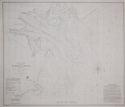United States Coast Survey: A.D. Bache Superintendent, St. Helena Sound, South Carolina
