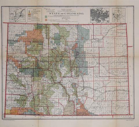 A.F. Dinsmore / U.S. General Land Office, State of Colorado Compiled by A.F. Dinsmore
