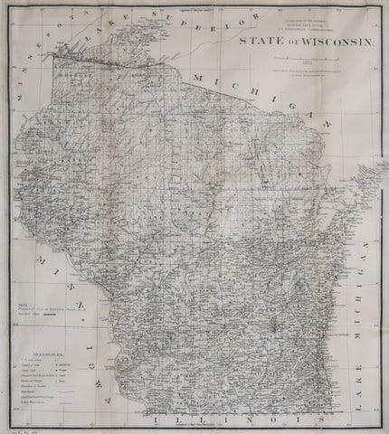 United States General Land Office/Charles Roeser,  State of Wisconsin, 1878