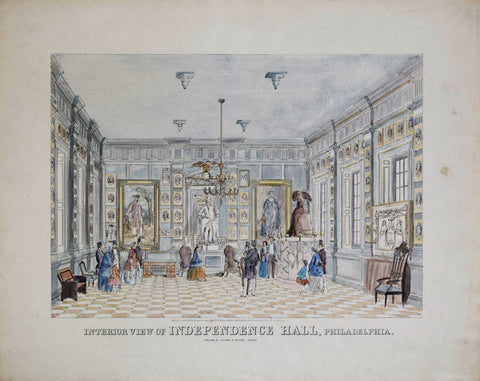 Stayman & Brother, Interior View of Independence Hall, Philadelphia