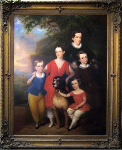 "Robert Street (American, 1796-1855), ""Portrait of Children and Dog"""