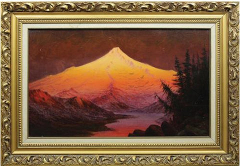 James Everett Stuart (1852-1941), Morning Glow Mt. Hood