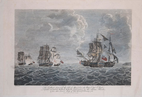 Francis Swain (1725-1782), The Gallant Action off the Isle of Man where the Brave Capt. Elliot defeated and took the Marshall Belle Isle…1760