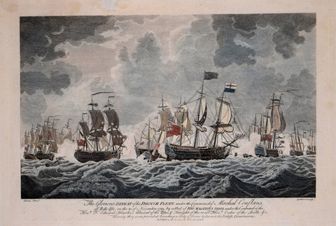 Francis Swain (1725-1782), The Glorious Defeat of the French Fleet under the Command of Marshal Conflans, off Belle-Isle on the 20 of November 1759...