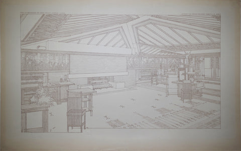 Frank Lloyd Wright (1867-1959), Living Room, The Avery Coonley House, Tafel LVI