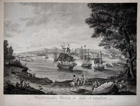 Benjamin Tanner (1775-1848), after Hugh Reinagle (1775-1848), Macdonough's Victory on Lake Champlain...