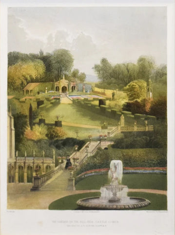E. Adveno Brooke (fl. 1844-1864), The Garden on the Hill Side, Castle Combe