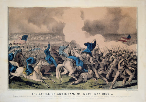 Nathaniel Currier (1813-1888) & James Merritt Ives (1824-1895), The Battle of Antietam, MD. Sept 17th 1862 (Maryland)