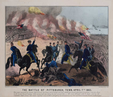 Nathaniel Currier (1813-1888) and James Merritt Ives (1824-1895), The Battle of Pittsburgh, Tenn. April 7th 1862