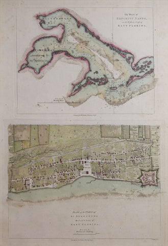 Thomas Jefferys (1719-1771), The Bay of the Espiritu Santo on the Western Coast of East Florida and Plan of the Town of Saint Augustine, the Capital of East Florida
