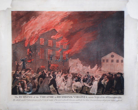 Benjamin Tanner (1775-1848), The Burning of the Theatre in Richmond, Virginia, on the Night of 26th December 1811...