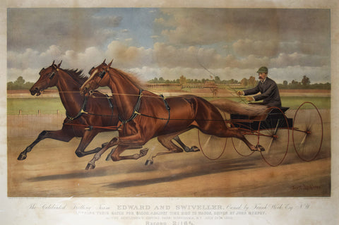 Nathaniel Currier (1813-1888) & James Merritt Ives (1824-1895), Celebrated Trotting Team Edward and Swiveller