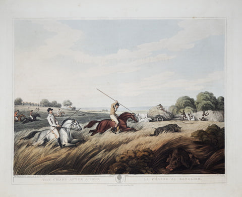 Thomas Williamson (1758-1817) and Samuel Howitt (1765-1822), The Chase after a Hog