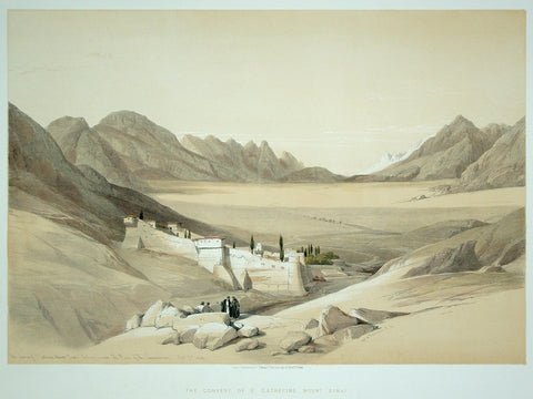 David Roberts (1796-1864), The Convent of St Catherine Mount Sinai