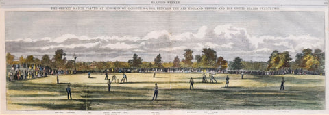 Harper's Weekly, The Cricket Match Played at Hoboken on October 3-6, 1859 between the All England Eleven and the United States Twenty-two