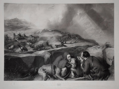 Landseer, Sir Edwin Henry (1802-1873), Landseer, Thomas (1795-1880),  The Drive: shooting deer on the pass; scene in the Black Mount, Glen-Urchy Forest