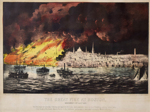 Nathaniel Currier (1813–1888) and James Merritt Ives (1824–1895),  The Great Fire at Boston, November 9th & 10th, c. 1872