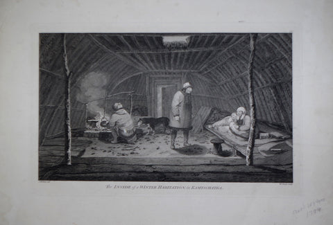 Captain James Cook (1728-1729) and John Webber (1751-1793), The Inside of a Winter Habitation, in Kamschatka