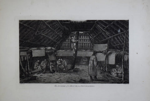 Captain James Cook (1728-1729) and John Webber (1751-1793), The Inside of a house in Oonalashka