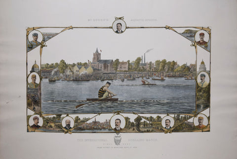 C. A. Fesch,  The International Sculling Match-The Final Heat-From Putney to Mort Lake, Sept. 1st 1886