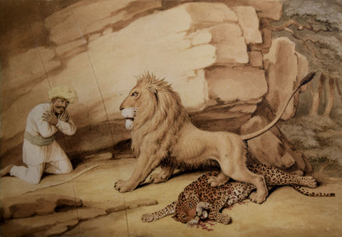 Samuel Howitt (British, 1756-1822), The Lion the Tiger and the Traveler