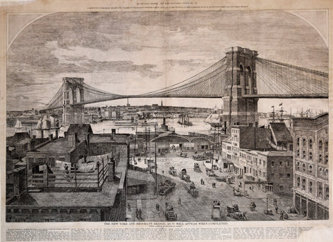 The New York and Brooklyn Bridge as it will appear when completed