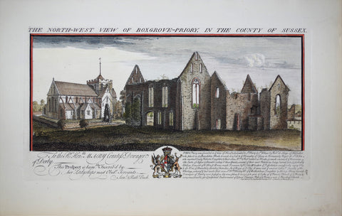 Samuel Buck (1696-1779) and Nathaniel Buck (fl. 1724-1759), The North-West View of Boxgrove-priory