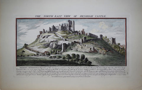 Samuel Buck (1696-1779) and Nathaniel Buck (fl. 1724-1759), The North East View of Denbigh Castle