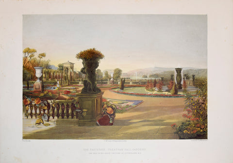 E. Adveno Brooke (fl. 1844-1864), The Parterre - Trentham Hall