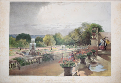 E. Adveno Brooke (fl. 1844-1864), The Parterre Harewood House