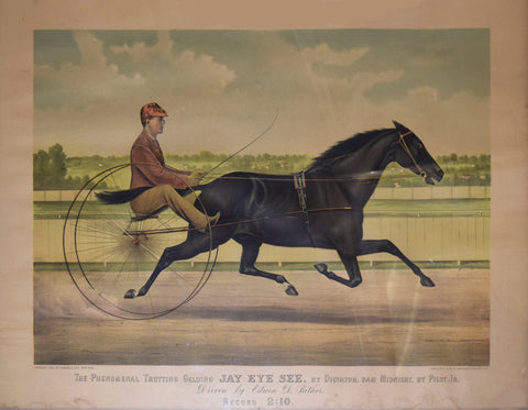 Nathaniel Currier (1813-1888) & James Merritt Ives (1824-1895), The Phenomenal Trotting Gelding Jay Eye See