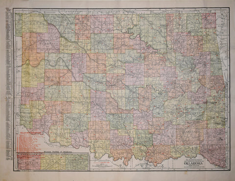 The Rand McNally New Commercial Atlas Map of Oklahoma