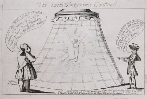 Matthew Darly (active 1741-1780), The Scotch Tent, or true Contrast
