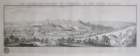 Samuel Buck (1696-1779) and Nathaniel Buck (fl. 1724-1759), The South-East Prospect of Colchester, in the County of Essex
