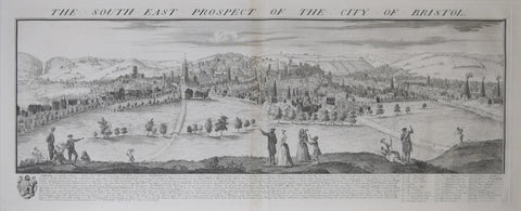 Samuel Buck (1696-1779) and Nathaniel Buck (fl. 1724-1759), The South East Prospect of the City of Bristol