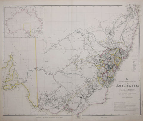 John Arrowsmith (English, 1790-1873), The South Eastern Portion of Australia Compiled from Colonial Surve
